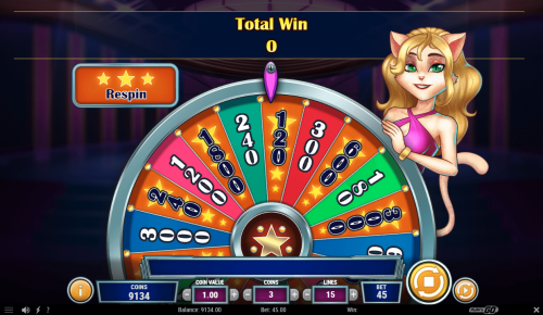 Play'N Go - Cats and Cash - Reels - Bonus - Wheel of fortune - Spin 3 - casinogroundsdotcom