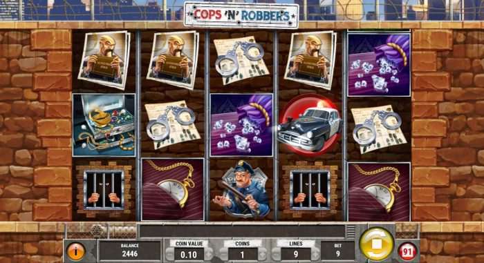 play'n go - cops n robbers - reels - casinogroundsdotcom