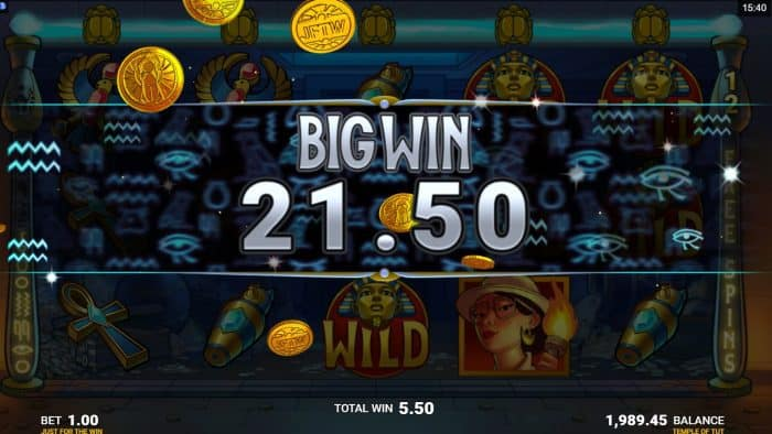 JFTW - Temple of Tut - Big Win - casinogroundsdotcom