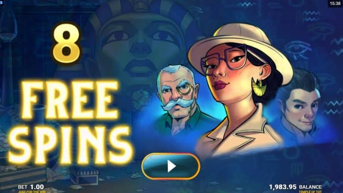 JFTW - Temple of Tut - Freespins - casinogroundsdotcom