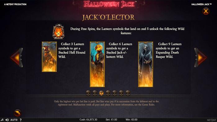 Netent - Halloween Jack - Rules3 - Jack'o'lector - casinogroundsdotcom