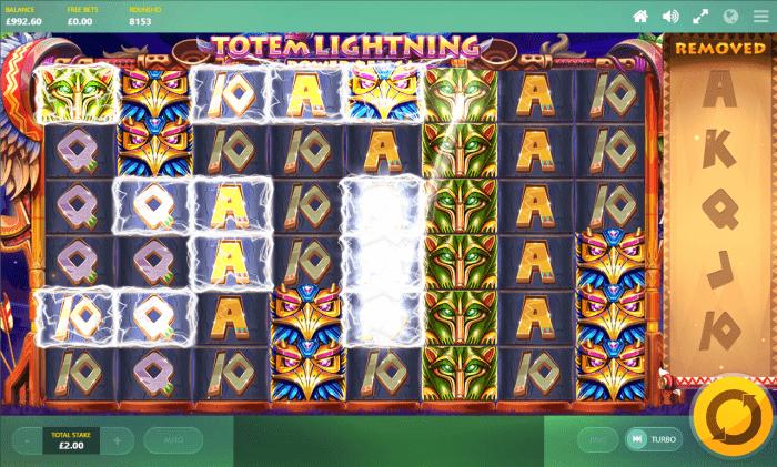 Red Tiger - Totem Lightning Power Reels - Chain Lightning - casinogroundsdotcom