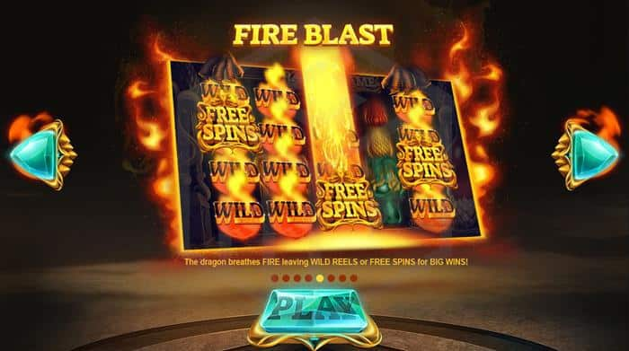 Dragons Fire Red Tiger Review: Image showing fire blast function