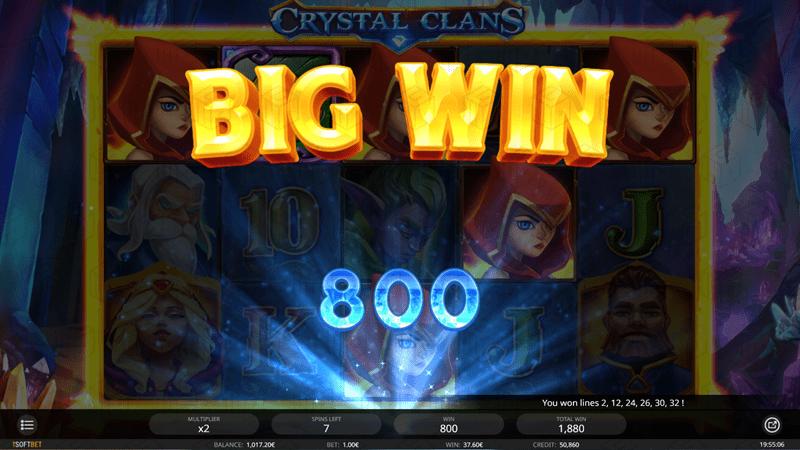 isoftbet - crystal clans - big win