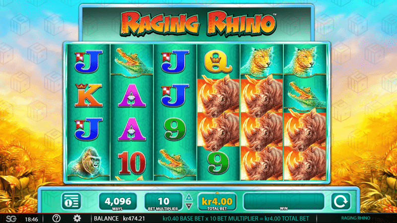 The Raging Rhino slot from WMS Gaming relaunches in Norwegian Market on LeoVegas Casino