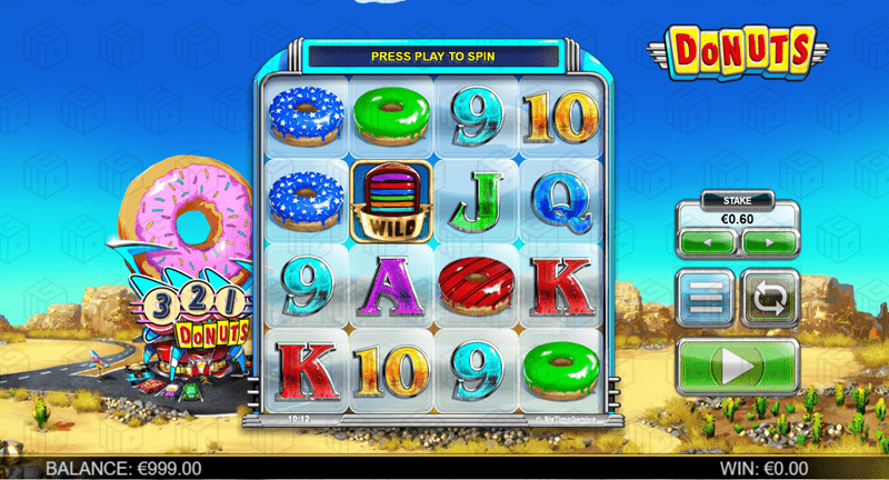 Image showing the reels of donuts slot from BTG