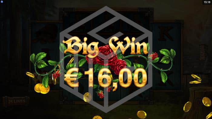 Image showing Big Win in Wicked Tales Dark Red from Microgaming