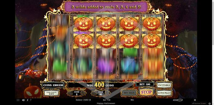 Happy Halloween - Play'n Go Reels during free spins