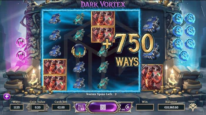 DARK_VORTEX__Yggdrasil review and demo. Image showing Vortex Spins expanding