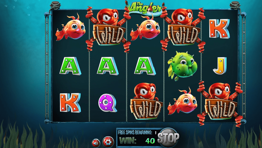 The Angler free spins feature