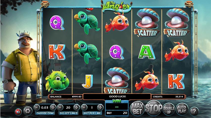 The Angler slot symbols