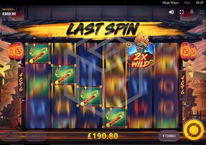 Ninja Ways Slot Random Feature Screenshot By Red Tiger Gaming