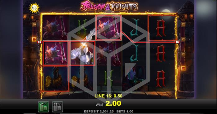 Dragons & Knights Slot Main Reels Screenshot by Merkur
