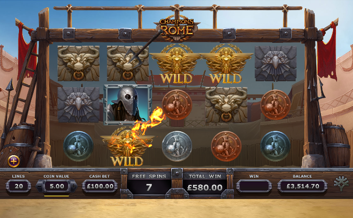 Champions of Rome slot gladiator free spins - Yggdrasil Gaming - Review