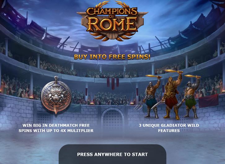 Champions of Rome slot buy bonus feature - Yggdrasil Gaming - Review