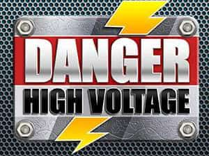 Danger! High Voltage logo (a Big Time Gaming online slot)