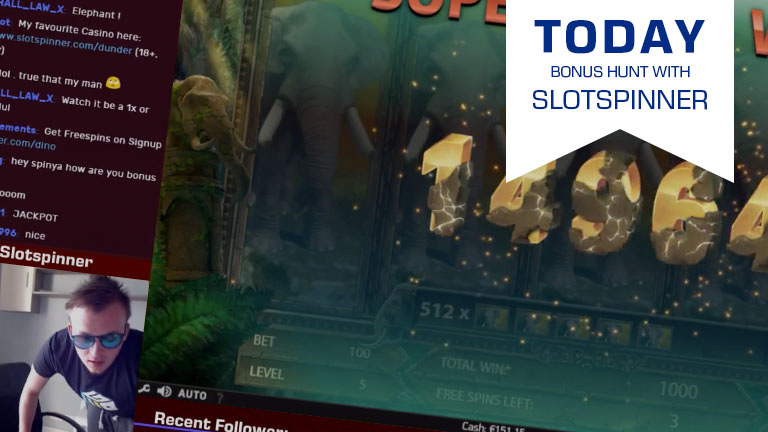 [Bonus Hunt] Join Slotspinner's Hunt at 16:00 CET Today
