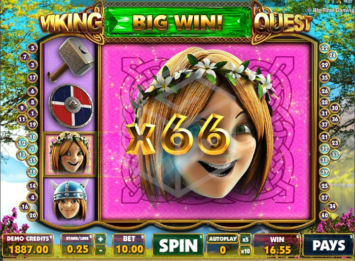 slots viking quest - super big win