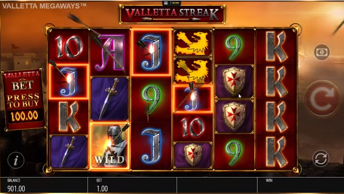 Selection of game symbols found in Valletta Megaways (a Blueprint Gaming slot)