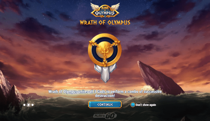 Wrath of Olympus feature in Rise of Olympus slot by Play'n GO