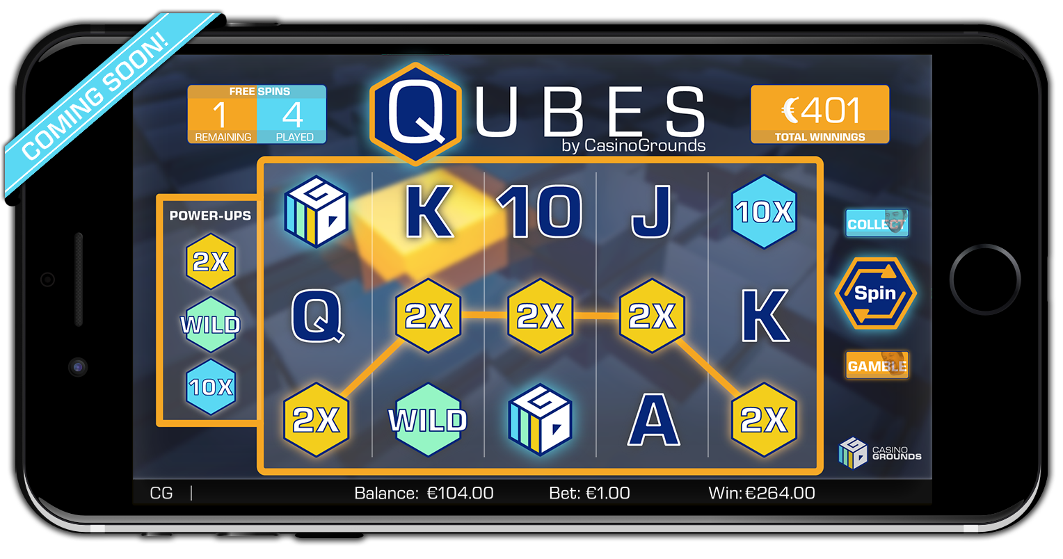 casinogrounds slot qubes reels mobile