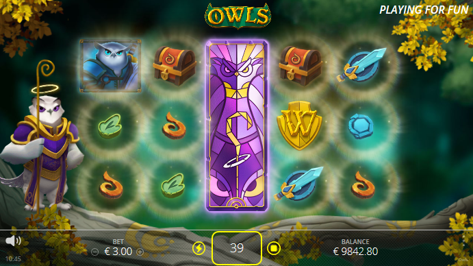Screenshot of Scatter Loot Feature in Owls Slot by Nolimit City