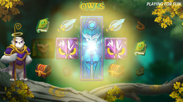 Screenshot of Dream Spins Feature in Owls Slot by Nolimit City