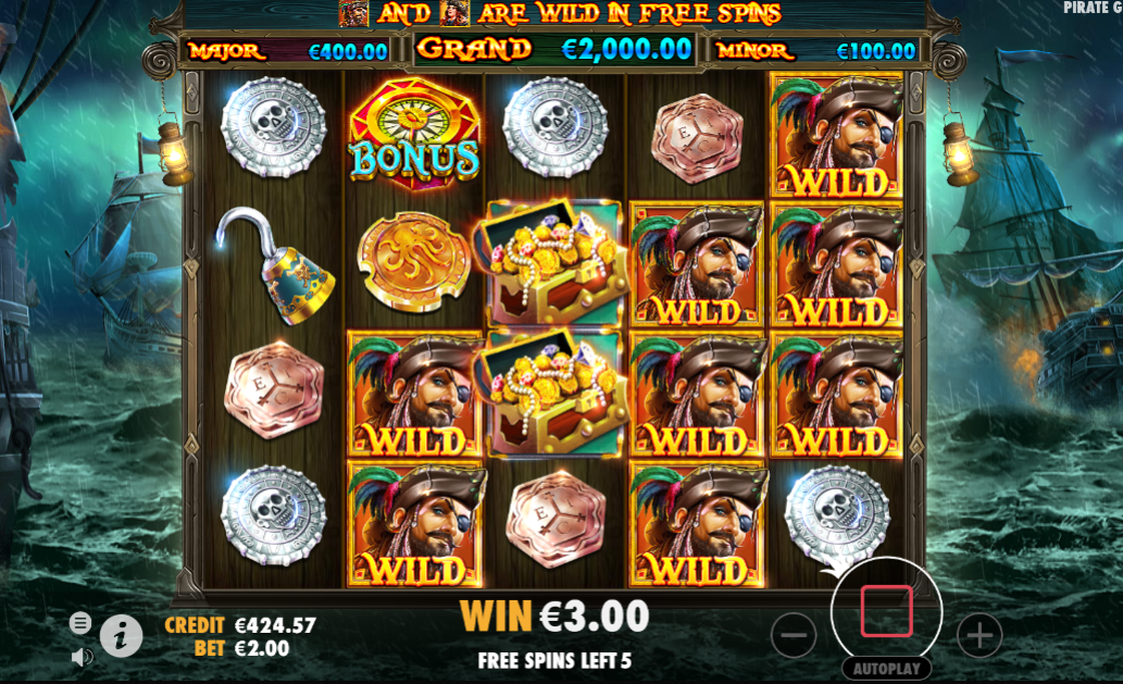 Play Pirate Gold Slot by Pragmatic Play for Free Today