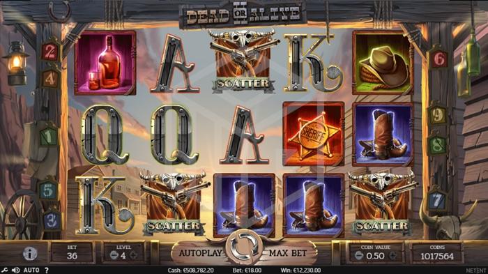 slots-dead-or-alive-2-slot-reels-triggering-free-spins