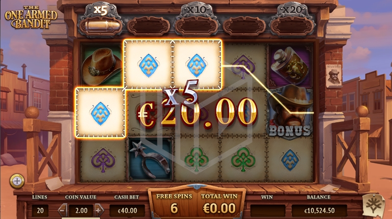 slots-the one armed bandit-slot-yggdrasil-reels-free-spins