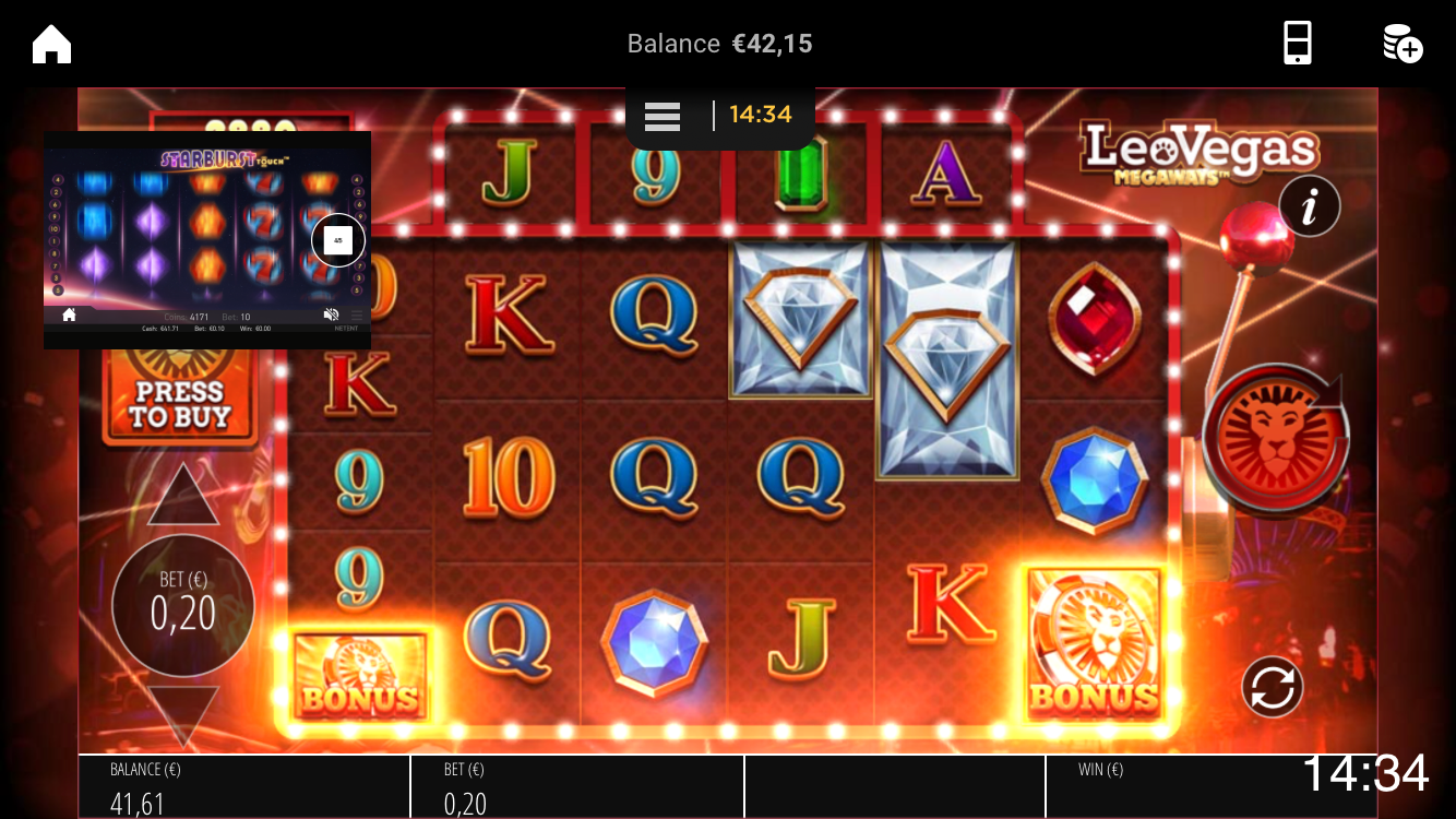 leovegas-multiplay-landscape-mode-feature-starburst-leovegas-megaways