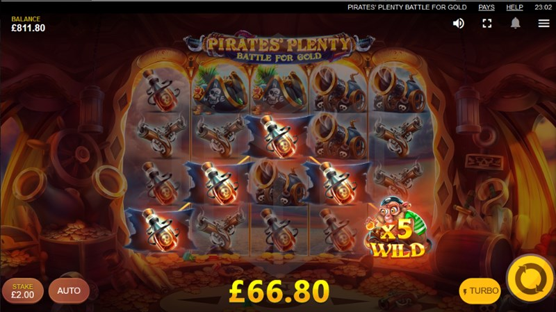 Pirates' Plenty: Battle for Gold slot monkey 5x wild