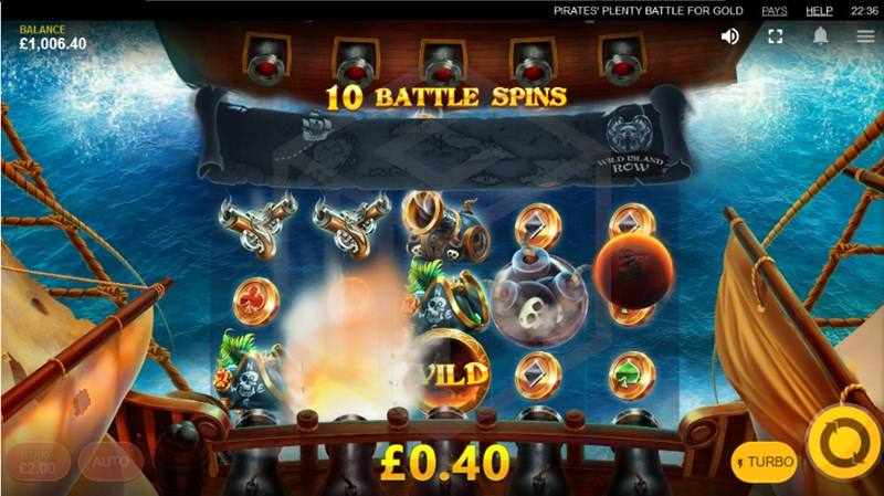 Pirates' Plenty: Battle for Gold slot battle spins