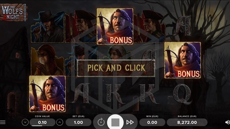 The Wolf's Night Pick and Click Bonus