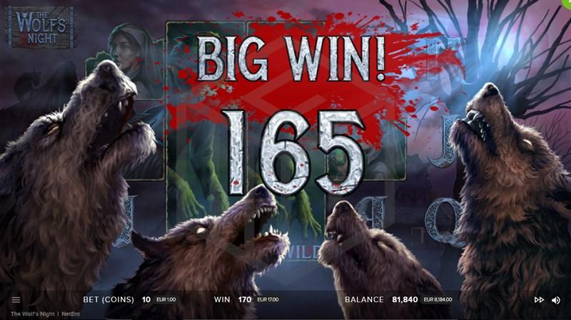 The Wolf's Night Expanding Wild big win