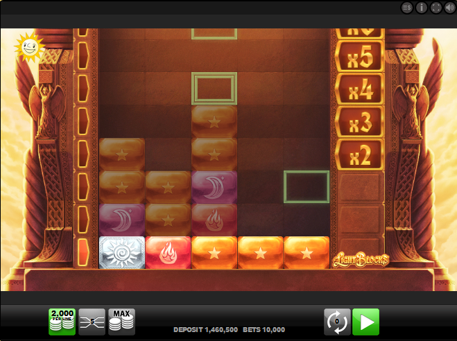 Screenshot of the Base Game in the Light Blocks Slot by Merkur Gaming