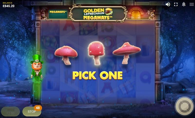 Golden Leprechaun Megaways Pick bonus