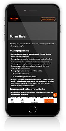 phone with bonus info nitrocasino