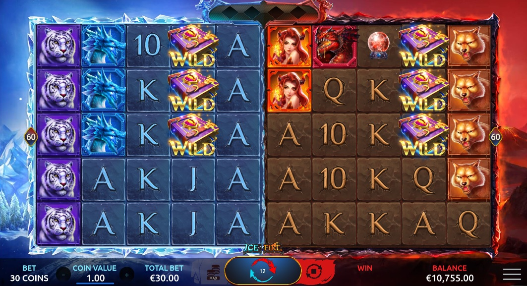 slots-ice-and-fire-slot-yggdrasil-reels-shared-wilds