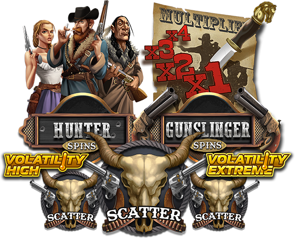 Hunter Spins and Gunslinger Spins on Deadwood