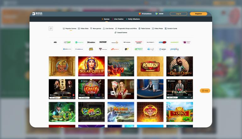 Boss Casino Games