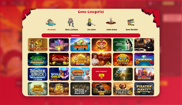 Types of Games Available at Casoola Casino