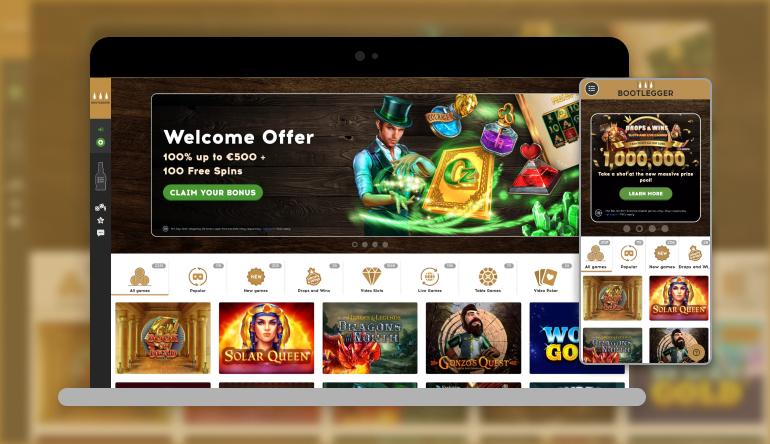 Bootlegger casino lobby
