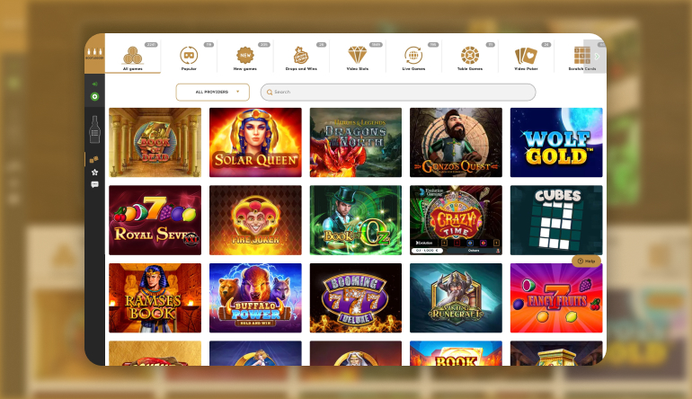 Types of Games available at Bootlegger Casino