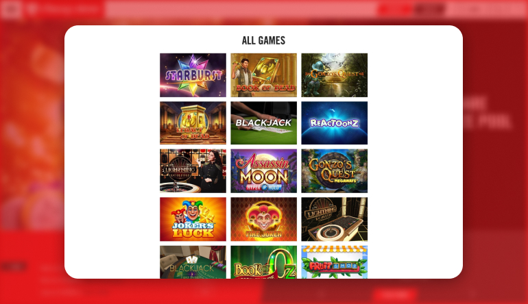 Types of Games available at Vegas Hero Casino