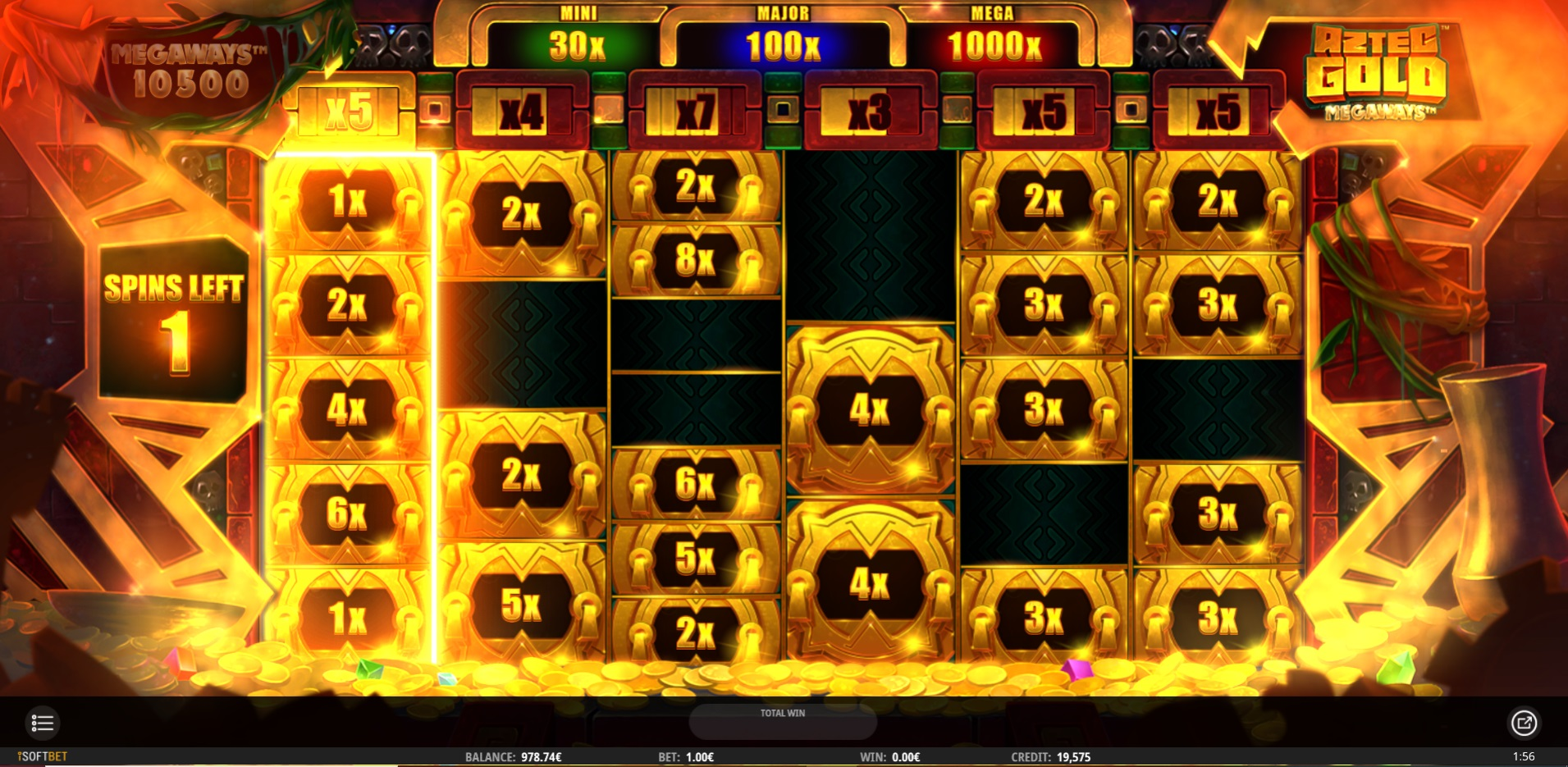 Aztec Gold Megaways Gold Cash Respins