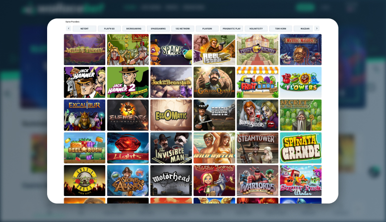 Types of Games available at Wallacebet Casino