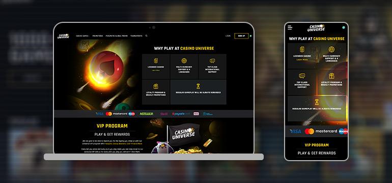 casino universe devices