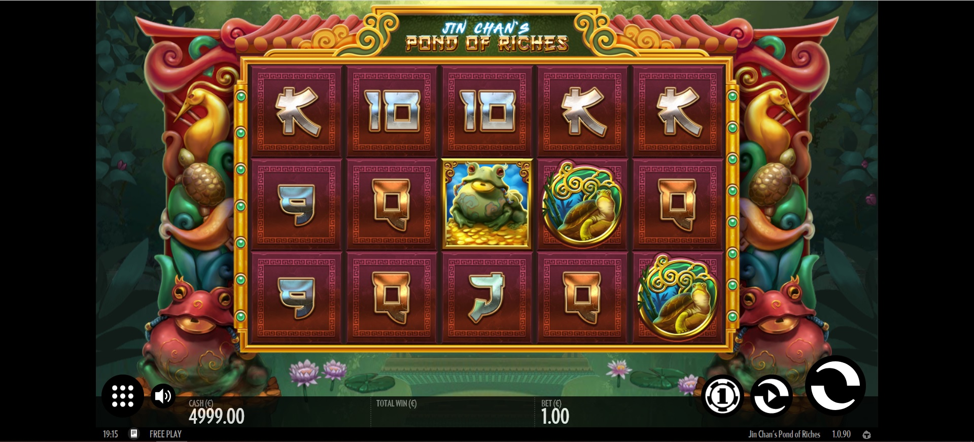 Jin Chan's Pond of Riches Reels during main game