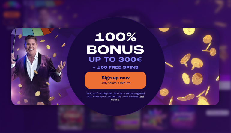 Screenshot of the welcome offer found at Wheelz Casino